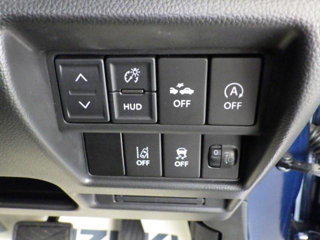 ディスプレイの格納や明るさ調整スイッチやデュアルセンサーブレーキサポート等のスイッチも運転席の手元に配備しています。