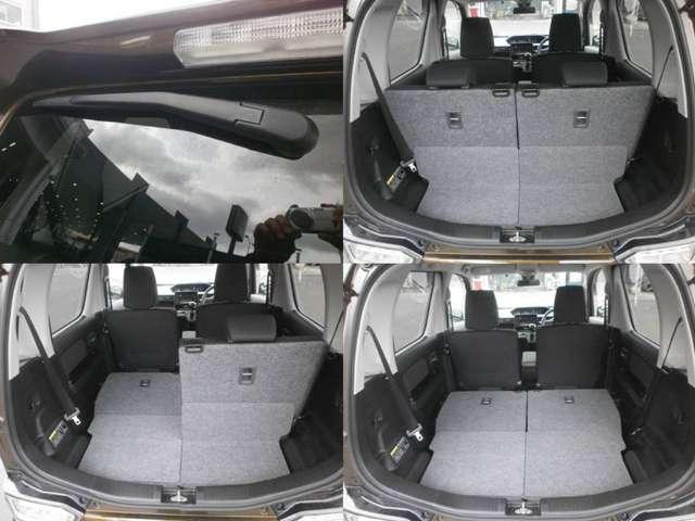 ドリンクホルダーや助手席ポケット、 運転席側の小物入れなど多彩な 収納が設置されています。常備品 に加え、その都度必要なものを入 れて自分仕様にアレンジして下さ い。