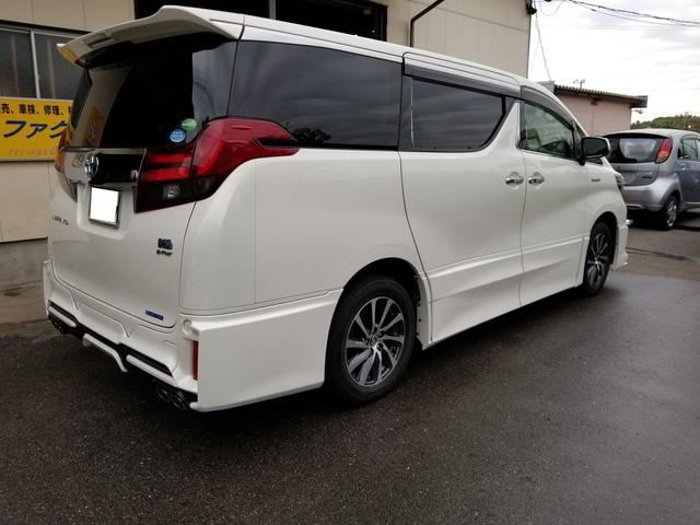 トヨタ アルファードハイブリッド SR Cパッケージ リヤモニター TRDエアロ