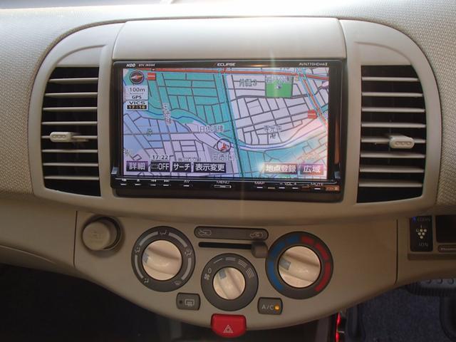 日産 マーチ 12c iセレクション 社外HDDナビ ETC キーレス