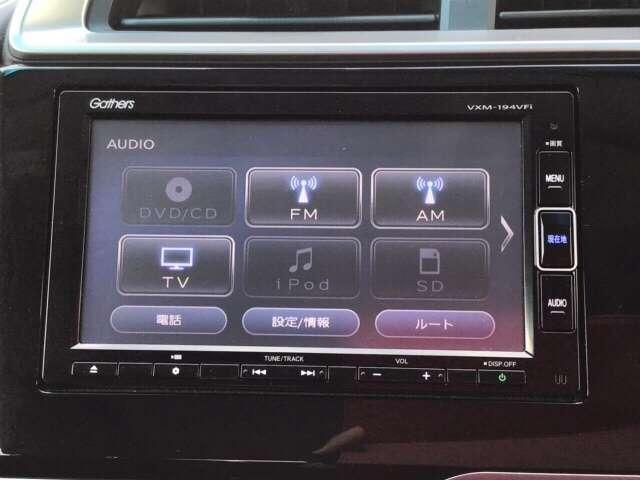 ナビ機能だけでなく、フルセグ、Bluetooth、DVDとCD再生などのオーディオ機能がついています!