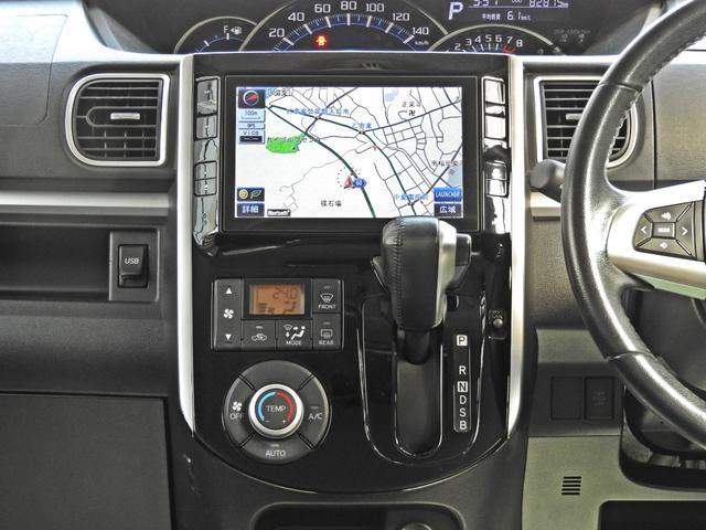 カスタムRS SA アイドリングストップ・スマートアシスト・純正オプションSDナビ・フルセグTV・バックモニター・bluetooth・USB・純正フリップダウンモニター・両側パワースライドドア・社外シートカバー(8枚目)