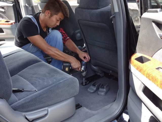 カスタムRS SA アイドリングストップ・スマートアシスト・純正オプションSDナビ・フルセグTV・バックモニター・bluetooth・USB・純正フリップダウンモニター・両側パワースライドドア・社外シートカバー(41枚目)