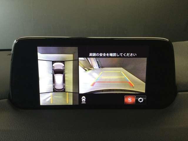 安心の360°ビューモニターバックカメラ付き☆シフトをRに入れるとナビ画面に自動で後ろのバンパー付近を映し出します!目視とあわせて活用してください☆(頼りすぎると左右のうしろをこすっちゃいますよ! )