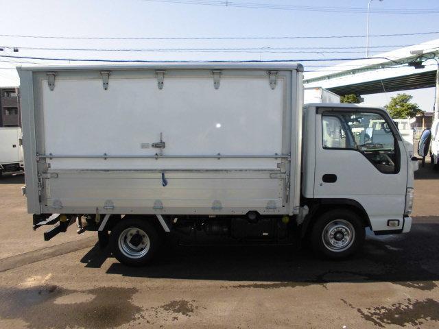 いすゞ エルフトラック 2tパネルバン移動販売ベース車 荷台跳ね上げ式扉 オートマ