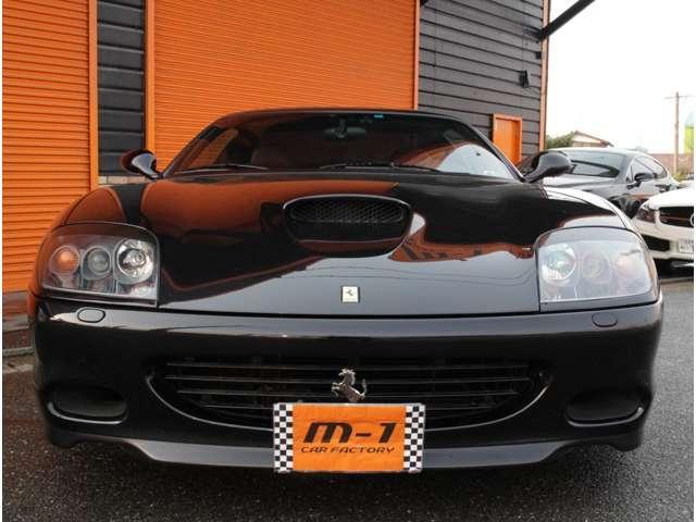平成15年式(03y)フェラーリ575MマラネロF1!正規ディーラー車!左ハンドル!フェラーリV12エンジン!モディファイドモデル!ロッソレザーシート!ヒートマジックマフラー付!