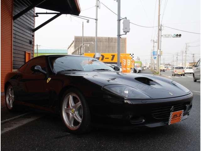 正規ディーラー車!希少モデルフェラーリ575MマラネロF1です!ボディーカラーはフェラーリソリッドブラックカラー、ネロデイトナです!