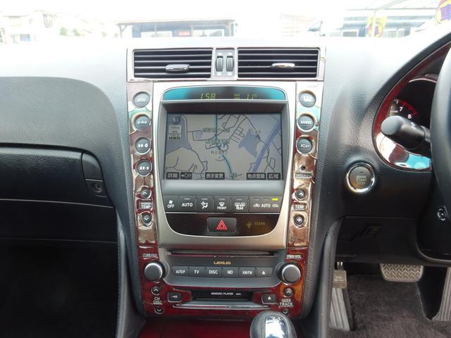 レクサス GS GS350 純HDDナビ Bモニター 黒革エアシート HID