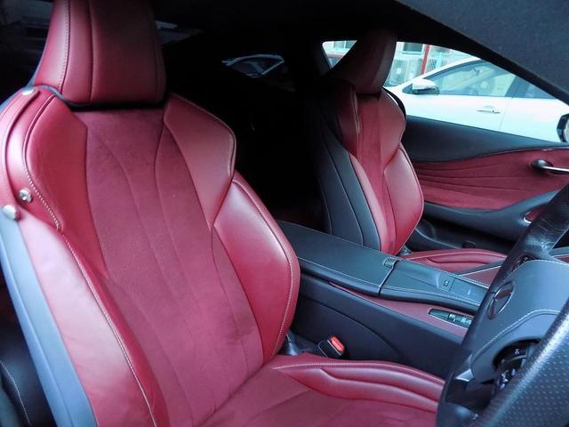 LC500 Sパッケージ OPマークレビンソン TRDエアロキット カールソン21inAW ワンオフマフラー RS-Rダウンサス アクティブRウイング カーボンルーフ 赤ハーフレザーシート セーフティシステム TVキット(17枚目)