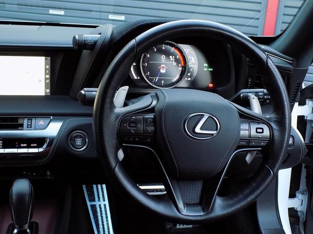 LC500 Sパッケージ OPマークレビンソン TRDエアロキット カールソン21inAW ワンオフマフラー RS-Rダウンサス アクティブRウイング カーボンルーフ 赤ハーフレザーシート セーフティシステム TVキット(21枚目)