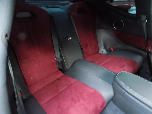 LC500 Sパッケージ OPマークレビンソン TRDエアロキット カールソン21inAW ワンオフマフラー RS-Rダウンサス アクティブRウイング カーボンルーフ 赤ハーフレザーシート セーフティシステム TVキット(22枚目)