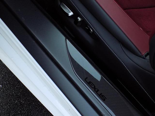 LC500 Sパッケージ OPマークレビンソン TRDエアロキット カールソン21inAW ワンオフマフラー RS-Rダウンサス アクティブRウイング カーボンルーフ 赤ハーフレザーシート セーフティシステム TVキット(31枚目)