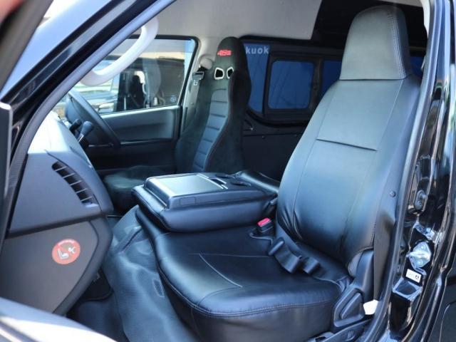 SロングワイドDX 202ブラック リアヒーター リアクーラー 100Vコンセント 助手席エアバック LEDテールランプ アルミホイル ローダウン フロントスポイラー LEDヘッドランプ グリル塗装 フロントスポイラー(5枚目)