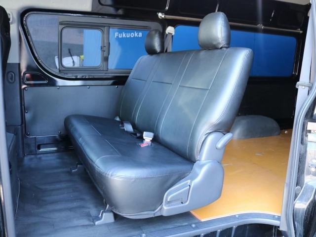 SロングワイドDX 202ブラック リアヒーター リアクーラー 100Vコンセント 助手席エアバック LEDテールランプ アルミホイル ローダウン フロントスポイラー LEDヘッドランプ グリル塗装 フロントスポイラー(6枚目)