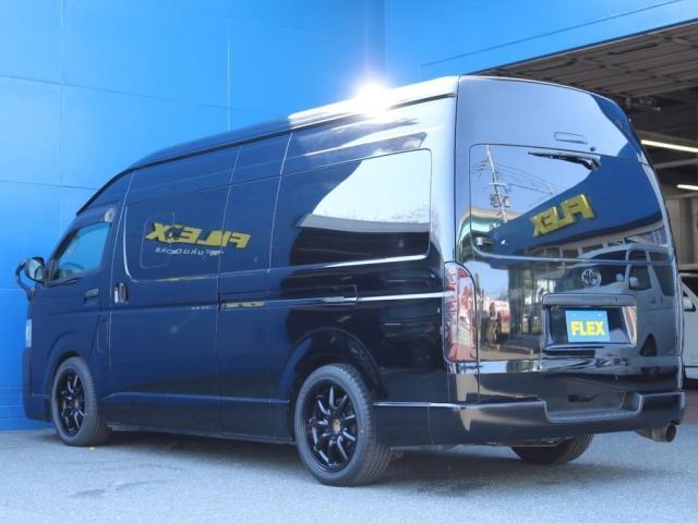 SロングワイドDX 202ブラック リアヒーター リアクーラー 100Vコンセント 助手席エアバック LEDテールランプ アルミホイル ローダウン フロントスポイラー LEDヘッドランプ グリル塗装 フロントスポイラー(9枚目)