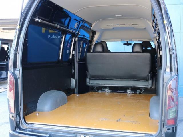 SロングワイドDX 202ブラック リアヒーター リアクーラー 100Vコンセント 助手席エアバック LEDテールランプ アルミホイル ローダウン フロントスポイラー LEDヘッドランプ グリル塗装 フロントスポイラー(12枚目)