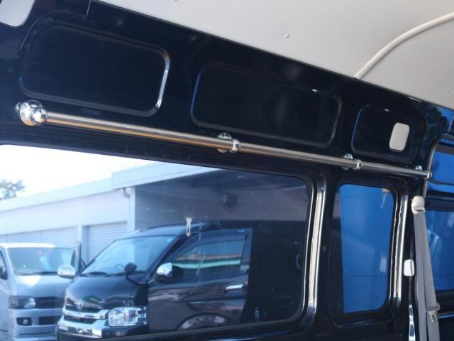 SロングワイドDX 202ブラック リアヒーター リアクーラー 100Vコンセント 助手席エアバック LEDテールランプ アルミホイル ローダウン フロントスポイラー LEDヘッドランプ グリル塗装 フロントスポイラー(18枚目)