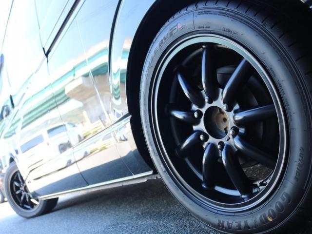 SロングワイドDX 202ブラック リアヒーター リアクーラー 100Vコンセント 助手席エアバック LEDテールランプ アルミホイル ローダウン フロントスポイラー LEDヘッドランプ グリル塗装 フロントスポイラー(20枚目)