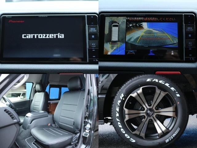 ロングDX GLパッケージ FLEXキャンピングカーNH TYPEII 車中泊 走行充電システム サブバッテリー カーテン フロントスポイラー 上開き式冷蔵冷凍庫40L 間接照明ダウンライト  アーバングランデ17インチAW(20枚目)