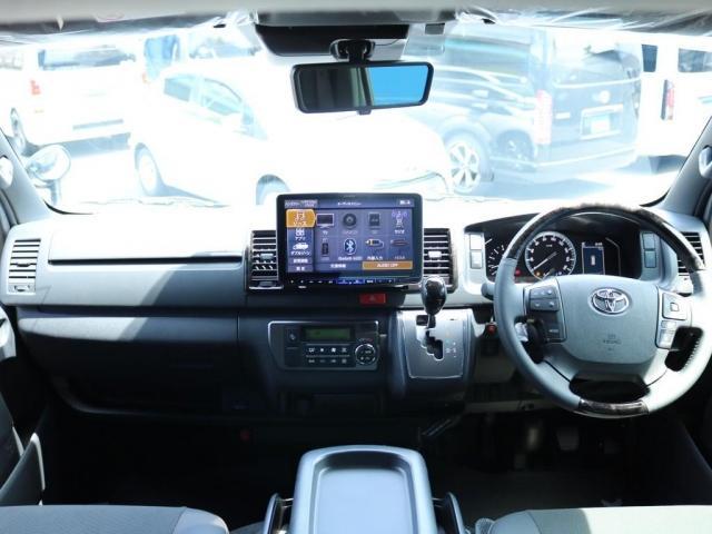 スーパーGL ダークプライムII ロングボディ FLEX BLACKオフロードスタイル アルパイン 11インチフローティングナビ TRDフロントスポイラー TRDマッドガード AVEST ドアミラーウィンカー 415COBRA LEDテールランプ(4枚目)