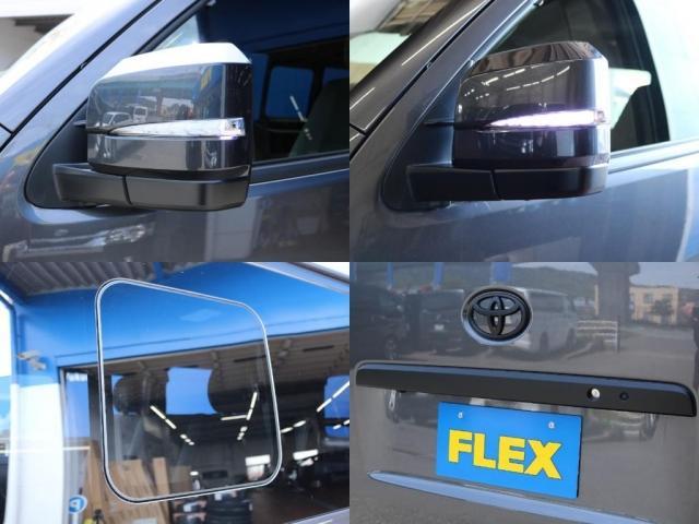 スーパーGL ダークプライムII ロングボディ FLEX BLACKオフロードスタイル アルパイン 11インチフローティングナビ TRDフロントスポイラー TRDマッドガード AVEST ドアミラーウィンカー 415COBRA LEDテールランプ(17枚目)