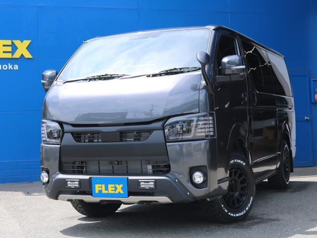 スーパーGL ダークプライムII ロングボディ FLEX BLACKオフロードスタイル アルパイン 11インチフローティングナビ TRDフロントスポイラー TRDマッドガード AVEST ドアミラーウィンカー 415COBRA LEDテールランプ(60枚目)