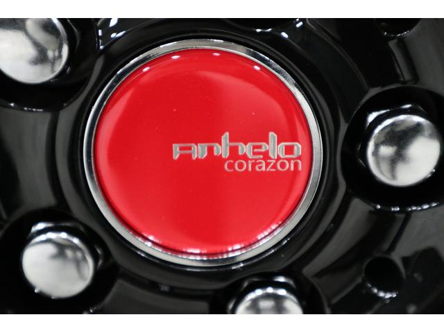 センターキャップは、『限定モデル用の赤キャップ』を装着しています。赤色がアクセントとなり、とてもスポーティーテイストでカッコ良くなりました。※どぉーしても赤キャップが嫌だって言う方は黒色に戻せます。