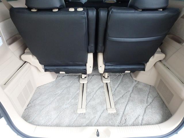 3列目シートの後ろにはトランクスペースが有ります。セダン車のトランクルームよりずっと広いです。