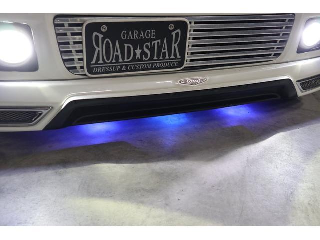 DADエアロの下にはオシャレに青色LEDのアンダーネオンも光ります。