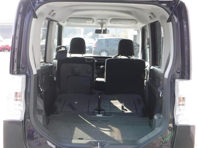 後部座席を倒すとおっきな荷物も積み込み可能です