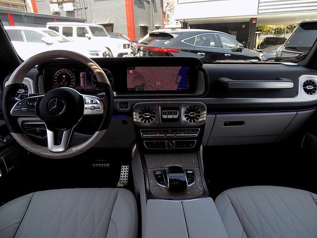 G400d マヌファクトゥーアエディション 限定車 D車左H インテリア+PKG AMGライン ラグジュアリーPKG 白革 SR アダプティブダンピング レーダーセーフティ 360°カメラ AMG20inAW ベンチレーション&マッサージシート(11枚目)