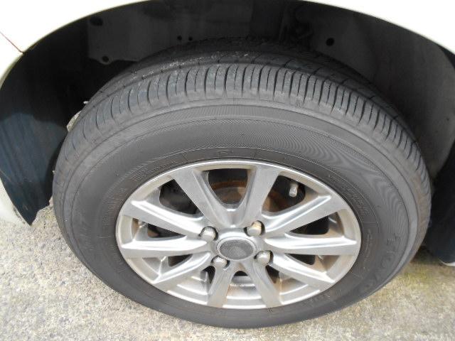 アルミホイール+新しいタイヤに変更しました。