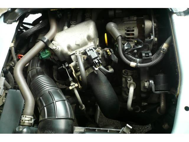 RR インタークーラーターボ  タイミングチェーン式 黒革調シートカバー 記録簿 CDステレオ プライバシーガラス UVカットガラス 14インチ純正アルミ 純正エアロ HIDライト キーレス フォグライト(52枚目)