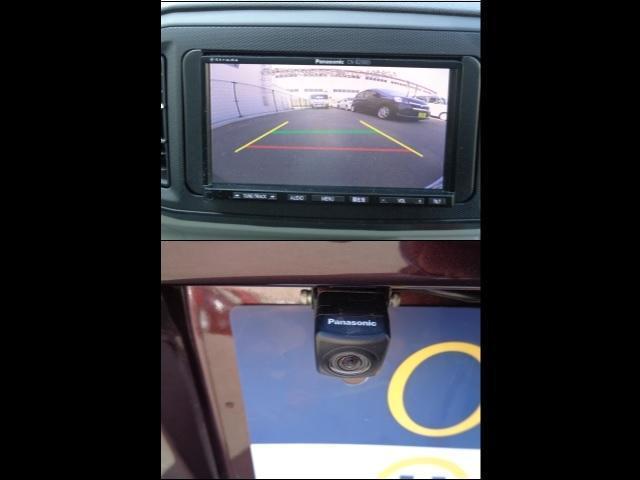 バックカメラ搭載!バック駐車が苦手な方も後方確認ができ安心。
