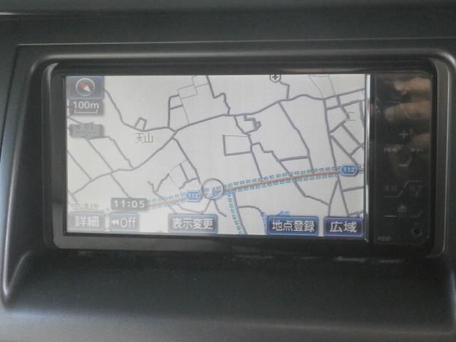 トヨタ エスティマ アエラス 後期 HDDナビ フルセグ 走行中DVD再生可