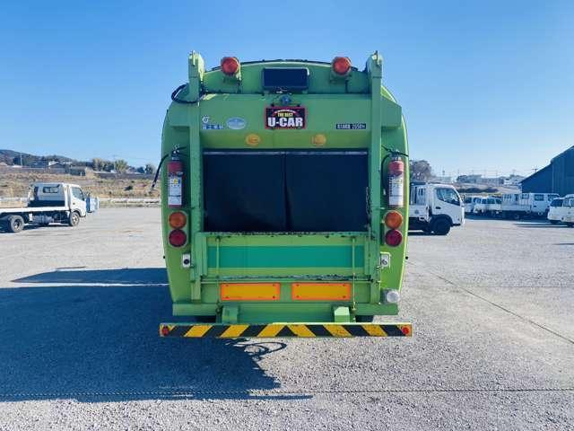 4tパッカー車 7.5立米 ロータリー式 4トン 塵芥車 ターボ車 坂道発進補助(10枚目)