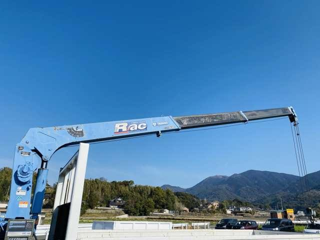 4トンユニック 3段クレーン ラジコン付 ターボ車 鉄板張 4tクレーン セミロング(15枚目)