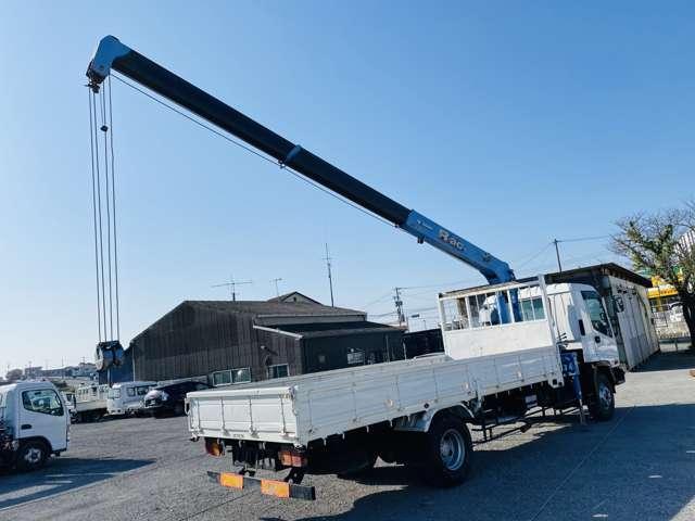 4トンユニック 3段クレーン ラジコン付 ターボ車 鉄板張 4tクレーン セミロング(16枚目)
