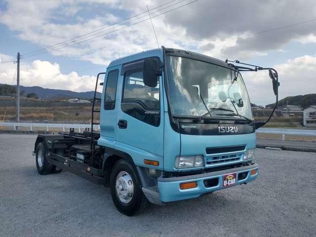 4tアームロール 新品コンテナ付 極東製 クラッチレス ベッド付 オートマ限定可 ETC(5枚目)