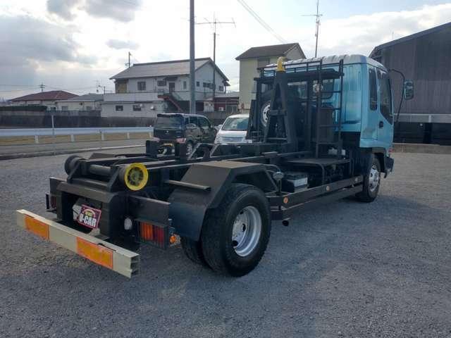 4tアームロール 新品コンテナ付 極東製 クラッチレス ベッド付 オートマ限定可 ETC(9枚目)
