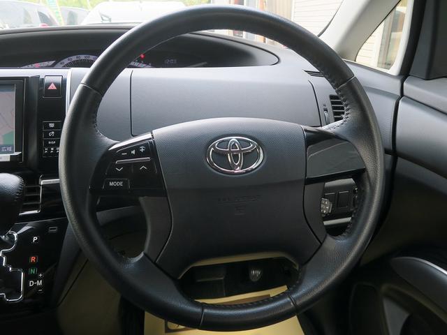 トヨタ エスティマ 2年保証付後期プレミアムEDモデリスタ両側自動ドア後モニタ-