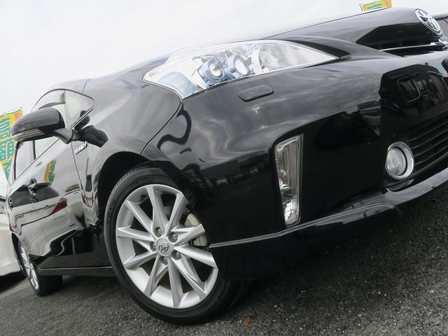 トヨタ プリウスアルファ 2年保証付Sツーリングセレ地デジナビスマ-トキ-エアロアルミ