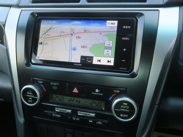 トヨタ カムリ 2年保証付HV-Gパッケージ地デジナビスマートキー革巻ステア