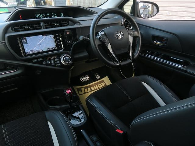 トヨタ アクア 2年保証付G's黒コンビレザ-地デジスマ-トキ-エアロ革ハン