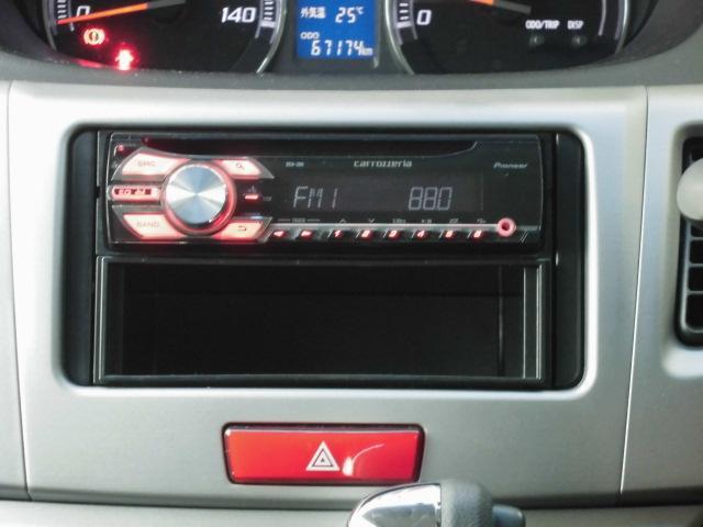 カスタム RS ターボ 社外CDデッキ HIDヘッドライト フォグランプ 電動格納ドアミラー ベンチシート アイドリングストップ 本革巻きハンドル プッシュスタート(5枚目)