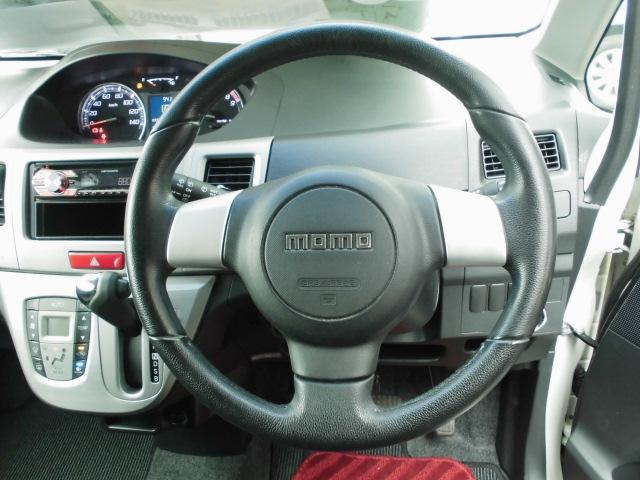 カスタム RS ターボ 社外CDデッキ HIDヘッドライト フォグランプ 電動格納ドアミラー ベンチシート アイドリングストップ 本革巻きハンドル プッシュスタート(7枚目)