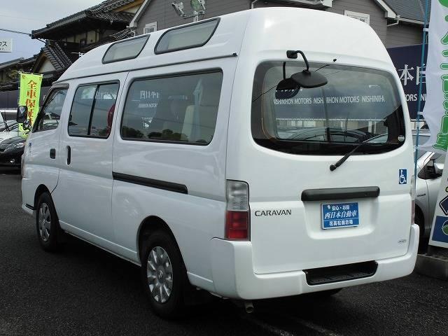 日産 キャラバンマイクロバス チェアキャブM仕様10名 車椅子固定装置2基 電動リフター