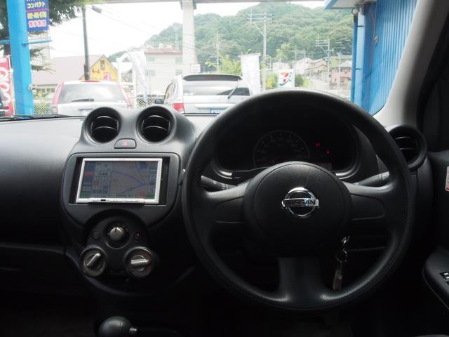 日産 マーチ 12S 社外SDナビ ワンセグTV ETC車載器