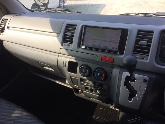 トヨタ ハイエースバン ロングDX 社外SDナビ 9人乗り 自社無償1年保証