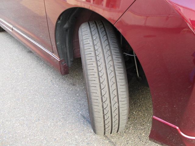 運転ラクラクの足回り。タイヤの溝も、まだまだ!くわしくはスタッフへ。